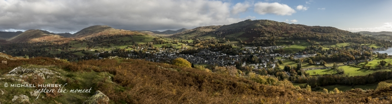Looking down at Ambleside